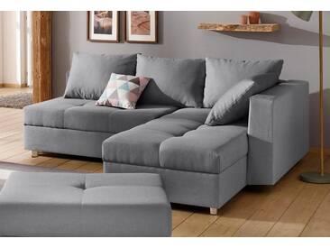 Home Affaire Beistelltisch »Italia« mit Schlaffunktion und Bettkasten, grau, B/H/T: 217x42x55cm, hoher Sitzkomfort