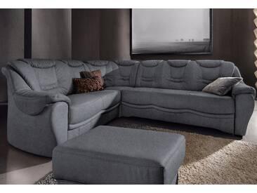 Sit&more Ecksofa mit Schlaffunktion, grau, komfortabler Federkern, hoher Sitzkomfort