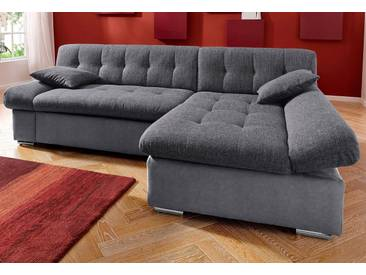 Trendmanufaktur Ecksofa, grau, Inkl. Zierkissen, hoher Sitzkomfort