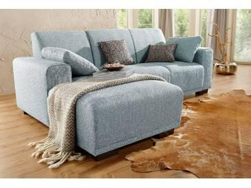 Home Affaire Ecksofa »Bornholm«, grau, Recamiere links, B/T: 234x131cm, hoher Sitzkomfort