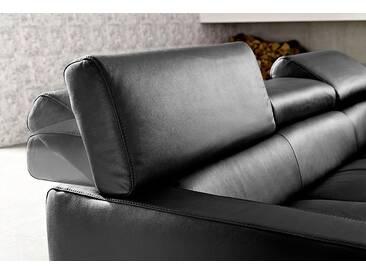 Cotta Wohnlandschaft mit Schlaffunktion, schwarz, B/H/T: 306x47x62cm