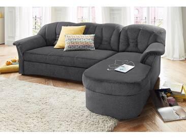 Domo Collection Polstergarnitur mit Schlaffunktion, grau, B/H/T: 240x40x50cm, hoher Sitzkomfort