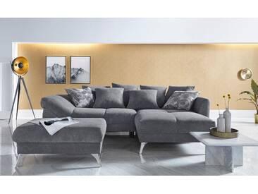 Inosign Ecksofa »Jamaica«, grau, B/H/T: 254x45x82cm, hoher Sitzkomfort