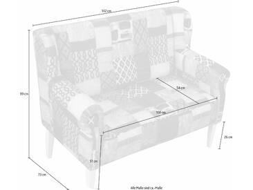 Home Affaire Zweier-Sofa »Moro«, mehrfarbig, komfortabler Federkern, FSC®-zertifiziert