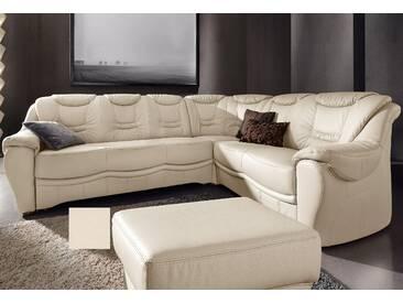 Sit&more Eckcouch mit Schlaffunktion, beige, komfortabler Federkern, hoher Sitzkomfort