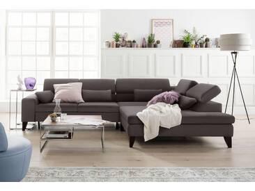 Gallery M Eck-Sofa »Felicia«, braun, 5 Jahre Hersteller-Garantie