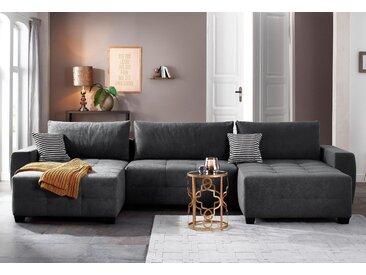 Home Affaire Wohnlandschaft »Bella«, grau, Inkl. loser Zier- und Rückenkissen, komfortabler Federkern