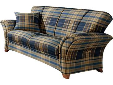 Frommholz® Couch »Verona«, blau, H: 44cm, hoher Sitzkomfort