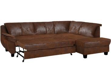 Home Affaire Ecksofa »Yesterday« mit Schlaffunktion, braun, B/H/T: 254x42x55cm, hoher Sitzkomfort
