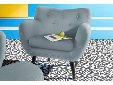 Inosign  Sessel im Retro-Style, grau, B/H/T: 91x48x52cm, hoher Sitzkomfort
