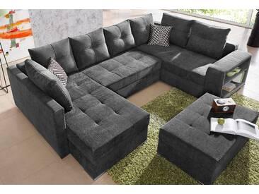 Collection Ab Wohnlandschaft, schwarz, B/H/T: 294x40x55cm, hoher Sitzkomfort