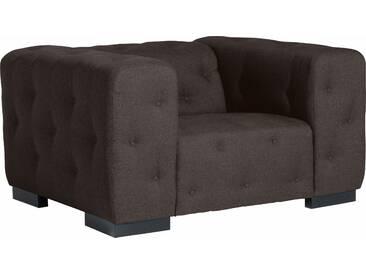 Max Winzer®  Sessel  mit Knopfheftung »York«, braun, B/H/T: 130x41x62cm, hoher Sitzkomfort