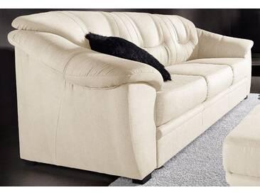 Sit&more 3-Sitzer mit Bettfunktion, beige, komfortabler Federkern, hoher Sitzkomfort