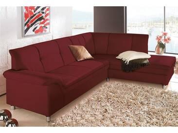 Domo Collection Ecksofa ohne Bettfunktion, rot
