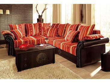 Home Affaire Polstergarnitur »Norra«, mit Federkern, orange, B/H: 238x42cm, hoher Sitzkomfort