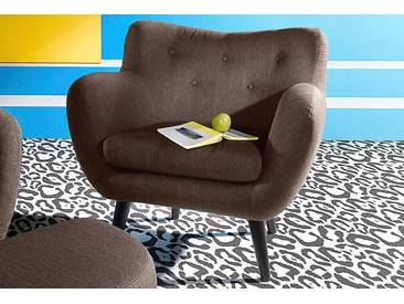 Inosign  Sessel im Retro-Style, braun, B/H/T: 91x48x52cm, hoher Sitzkomfort