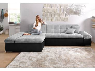 Domo Collection Ecksofa, silber, Inkl. Zierkissen