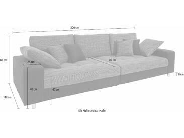Nova Via  Megasofa, B/H/T: 300x40x85cm, Inkl. loser Zier- und Rückenkissen, hoher Sitzkomfort, FSC®-zertifiziert