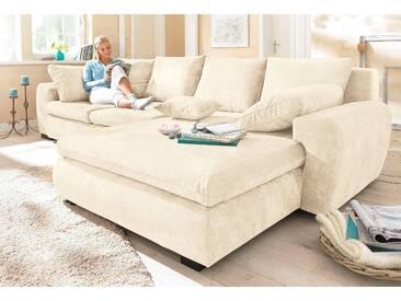 Home Affaire Ecksofa »Cara Mia«, beige, hoher Sitzkomfort