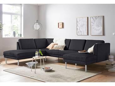 Andas Wohn-Landschaft »Christian«, grau, Inkl. Rückenkissen, hoher Sitzkomfort, FSC®-zertifiziert