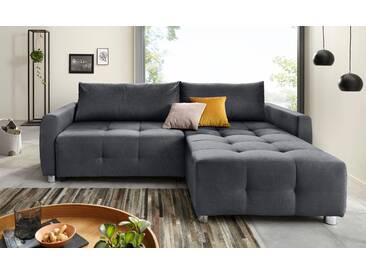 Collection Ab Ecksofa mit Schlaffunktion und Bettkasten, grau, B/H/T: 242x45x55cm, hoher Sitzkomfort