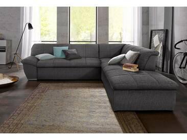 Domo Collection Ecksofa mit Schlaffunktion, braun, hoher Sitzkomfort