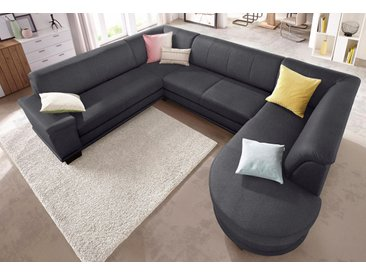 Trendmanufaktur Wohn-Landschaft ohne Bettfunktion, grau, komfortabler Federkern, hoher Sitzkomfort