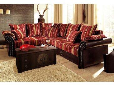 Home Affaire Eck-Sofa »Norra«, rot, Microfaser, komfortabler Federkern
