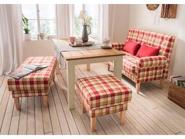 Home Affaire Küchensofa »Scalea«, rot, Inkl. Zierkissen, komfortabler Federkern