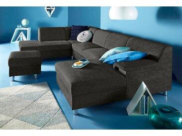 Inosign Wohn-Landschaft ohne Schlaffunktion, schwarz, B/H/T: 308x40x51cm, hoher Sitzkomfort