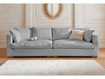 Guido Maria Kretschmer Home&living Big-Sofa »Pantin«, silber, B/H/T: 266x47x75cm, hoher Sitzkomfort