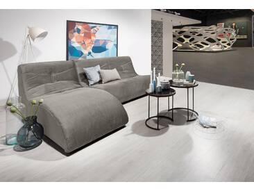 Domo Collection Polstergarnitur, grau, B/H/T: 230x40x63cm, hoher Sitzkomfort