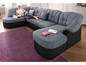 Domo Collection Wohnlandschaft, silber, B/H/T: 293x42x50cm, komfortabler Federkern, hoher Sitzkomfort, FSC®-zertifiziert
