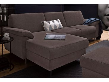 Sit&more Eckcouch mit Bettfunktion, braun, komfortabler Federkern