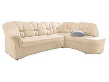 Domo Collection Ecksofa ohne Schlaffunktion, beige, B/H/T: 241x41x51cm, hoher Sitzkomfort