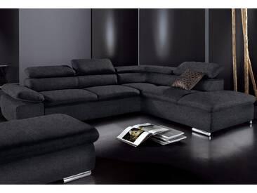 Sit&more Sitzecke, schwarz, Ottomane rechts, B/H/T: 274x40x60cm, hoher Sitzkomfort