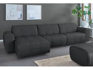 Natuzzi Ecksofa »Alessio«, schwarz, Recamiere links, B/H/T: 336x43x67cm, hoher Sitzkomfort