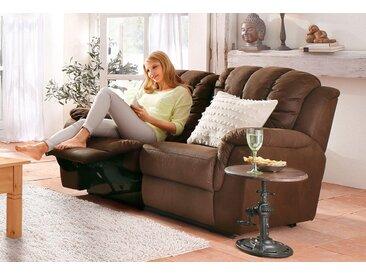 Home Affaire 2er Sofa »Marko«, braun, komfortabler Federkern