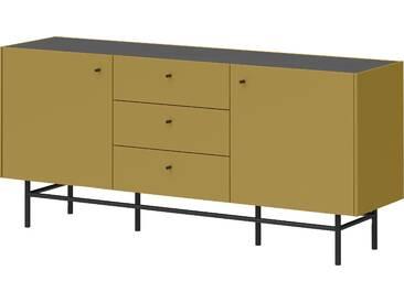 Schöner Wohnen-kollektion Sideboard »Monteo«, gelb, pflegeleichte Oberfläche, mit Schubkästen