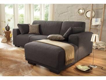 Home Affaire Ecksofa »Bornholm«, braun, Recamiere rechts, B/T: 234x131cm, hoher Sitzkomfort