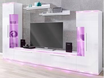 Cnouch Wohnwand, weiß, pflegeleichte Oberfläche