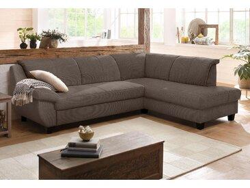 Home Affaire Ecksofa »Yesterday« mit Bettfunktion, braun, B/H/T: 254x42x55cm, hoher Sitzkomfort, FSC®-zertifiziert