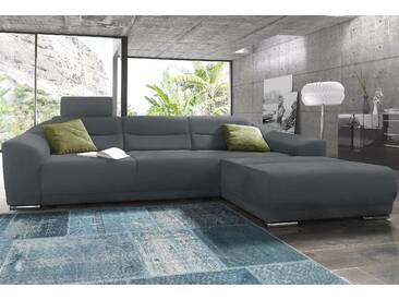 Sit&more Ecksofa, grau, Recamiere rechts, B/H/T: 294x40x63cm, hoher Sitzkomfort