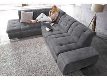 Sit&more Ecksofa mit Bettfunktion, grau, B/H/T: 281x41x67cm