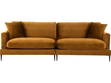 Leonique  Megasofa  mit losen Kissen und Metallbeinen »Cozy«, B/H/T: 252x46x61cm, Inkl. Zierkissen, hoher Sitzkomfort