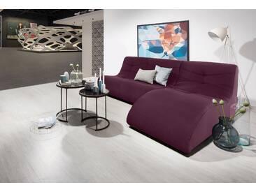 Domo Collection Polstergarnitur, lila, B/H/T: 230x40x63cm, hoher Sitzkomfort