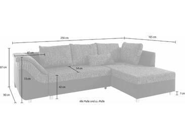 Collection Ab Eck-Sofa mit Schlaffunktion, grau, Inkl. loser Zier- und Rückenkissen, hoher Sitzkomfort, FSC®-zertifiziert