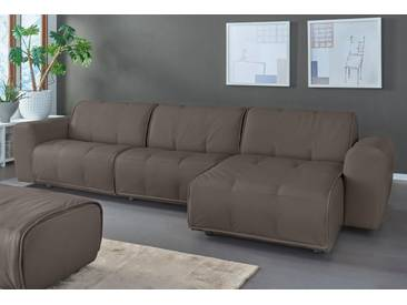 Natuzzi Ecksofa »Alessio«, braun, Recamiere rechts, B/H/T: 336x43x67cm, hoher Sitzkomfort