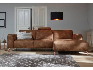 Guido Maria Kretschmer Home&living Ecksofa »Reval«, braun, Recamiere rechts, B/H/T: 295x49x58cm, hoher Sitzkomfort