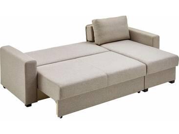 Atlantic Home Collection Eck-Sofa, schwarz